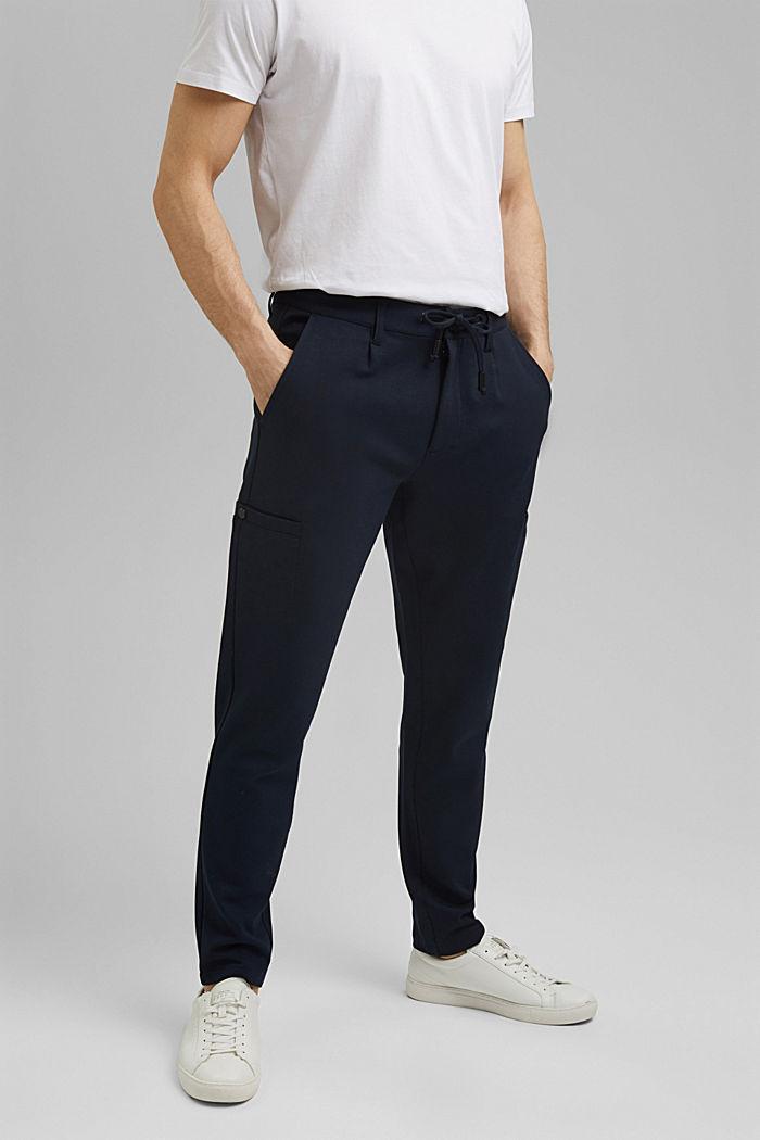 Pantalones cargo de estilo deportivo con LENZING™ ECOVERO™, NAVY, detail image number 0
