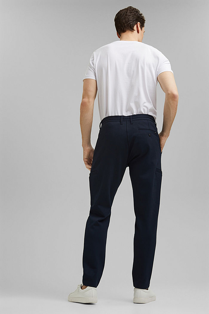 Cargo tracksuit bottoms with LENZING™ ECOVERO™, NAVY, detail image number 3