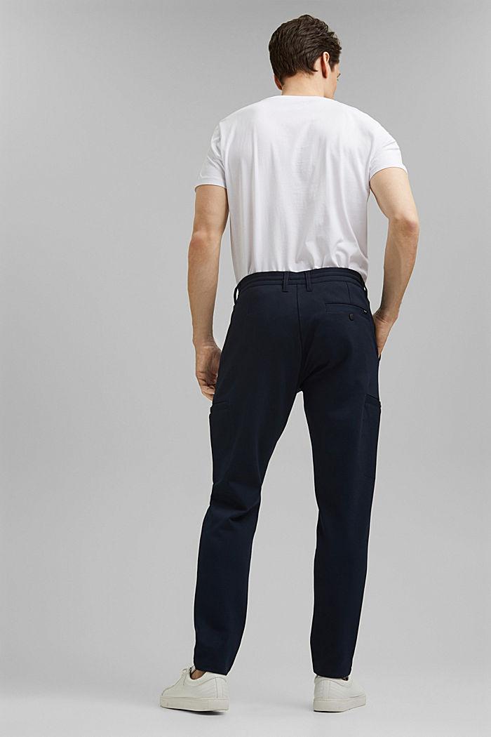Pantalones cargo de estilo deportivo con LENZING™ ECOVERO™, NAVY, detail image number 3