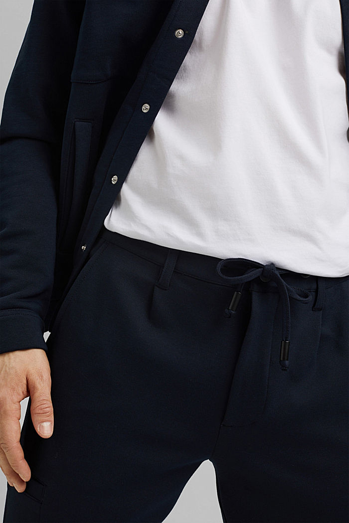 Cargo tracksuit bottoms with LENZING™ ECOVERO™, NAVY, detail image number 6