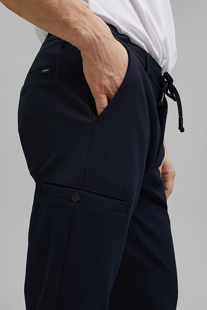 Cargo tracksuit bottoms with LENZING™ ECOVERO™, NAVY, detail image number 2