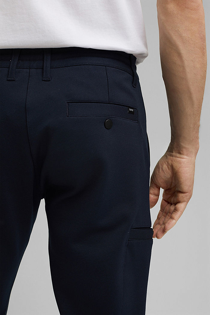 Cargo tracksuit bottoms with LENZING™ ECOVERO™, NAVY, detail image number 5