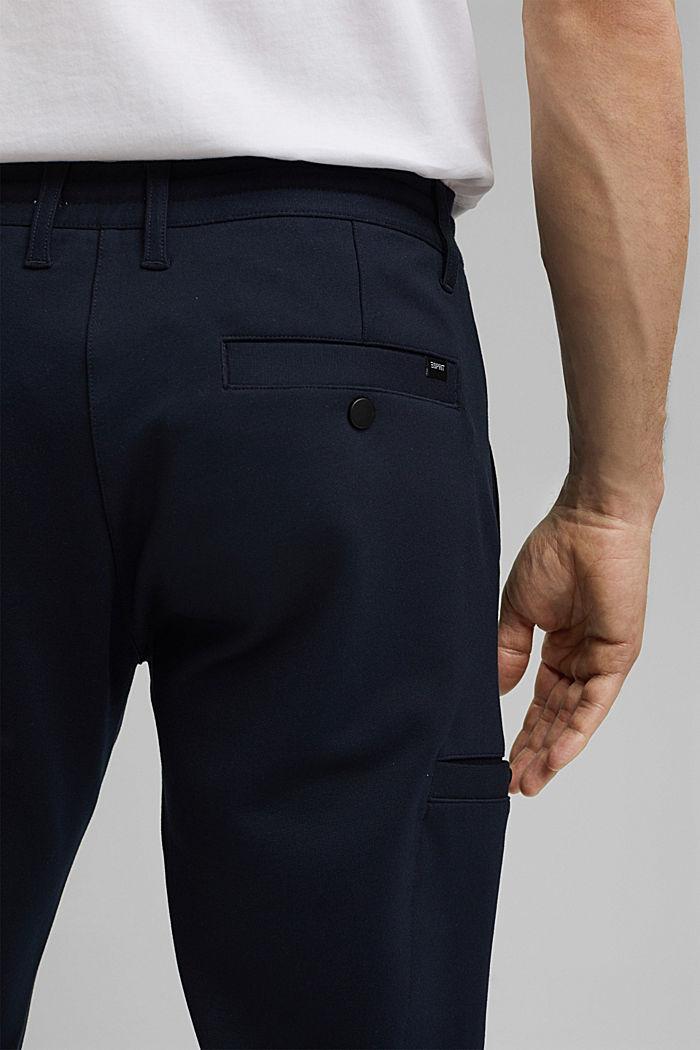 Pantalones cargo de estilo deportivo con LENZING™ ECOVERO™, NAVY, detail image number 5