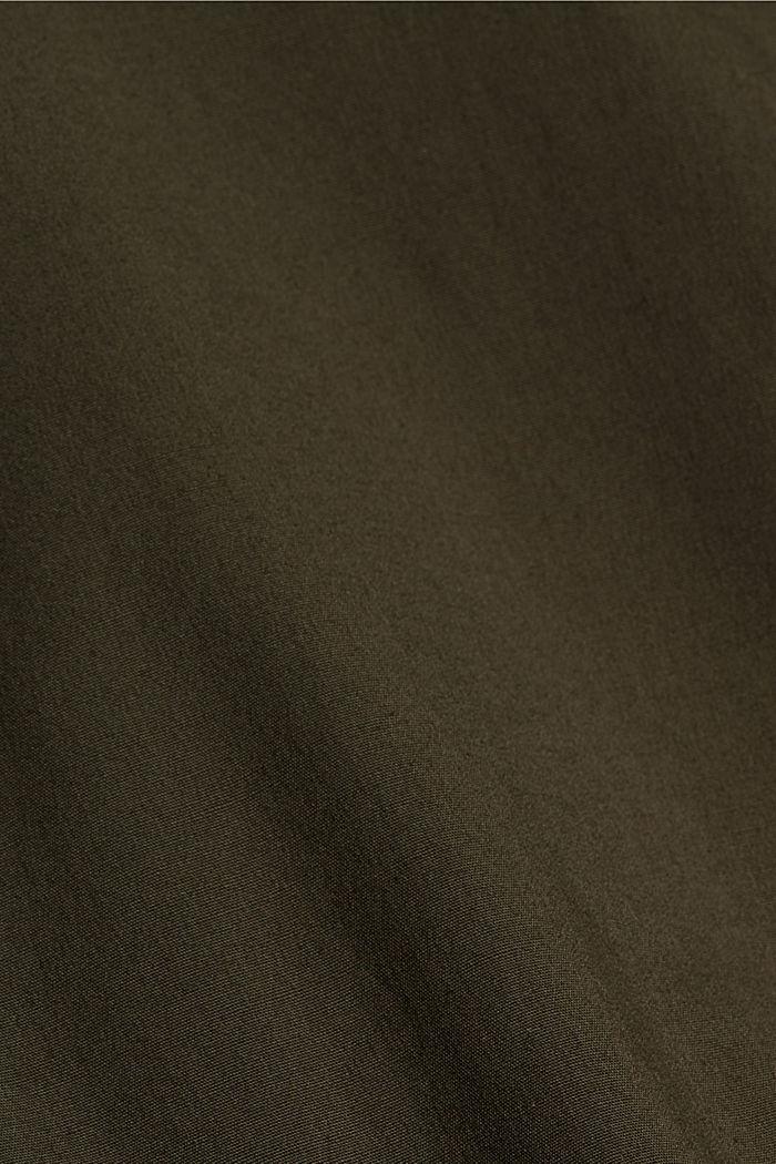 Cargobroek van organic cotton, DARK KHAKI, detail image number 4