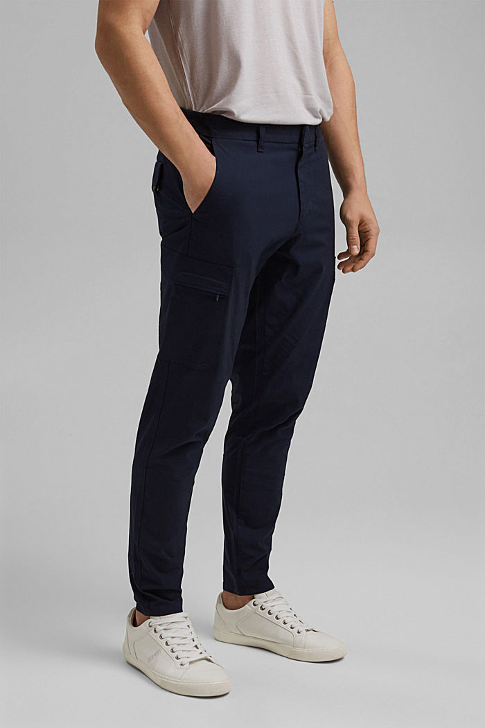 Cargo trousers in organic cotton, NAVY, detail image number 0