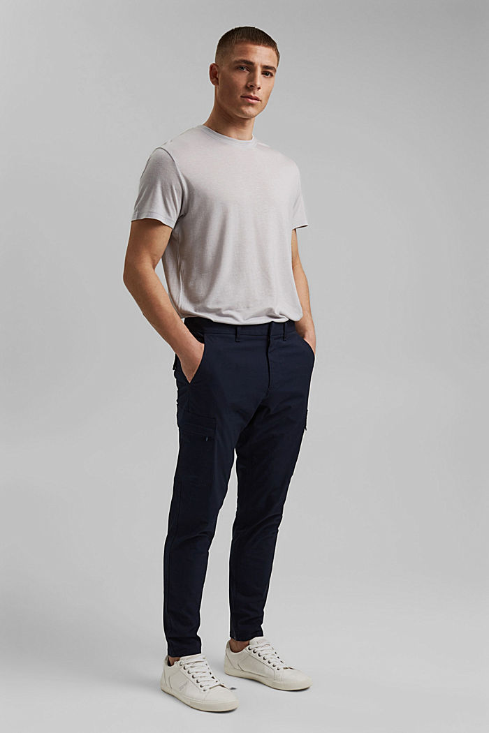 Cargo trousers in organic cotton, NAVY, detail image number 6