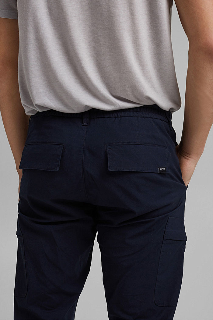 Cargo trousers in organic cotton, NAVY, detail image number 5