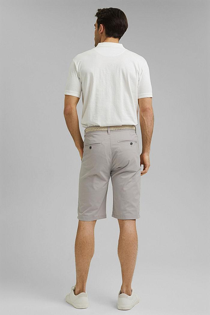 Shorts mit Gürtel, Organic Cotton, LIGHT GREY, detail image number 3