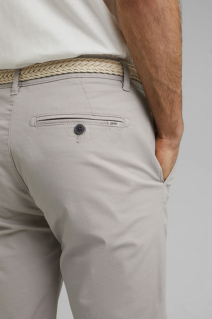 Shorts mit Gürtel, Organic Cotton, LIGHT GREY, detail image number 2