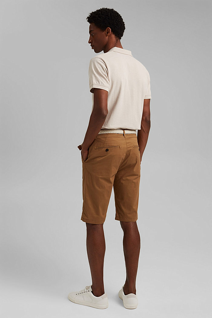 Shorts mit Gürtel, Organic Cotton, CAMEL, detail image number 3