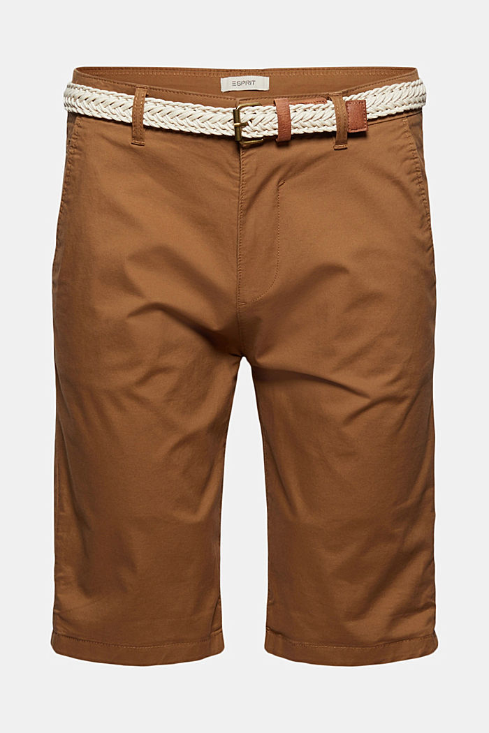 Shorts mit Gürtel, Organic Cotton, CAMEL, detail image number 7