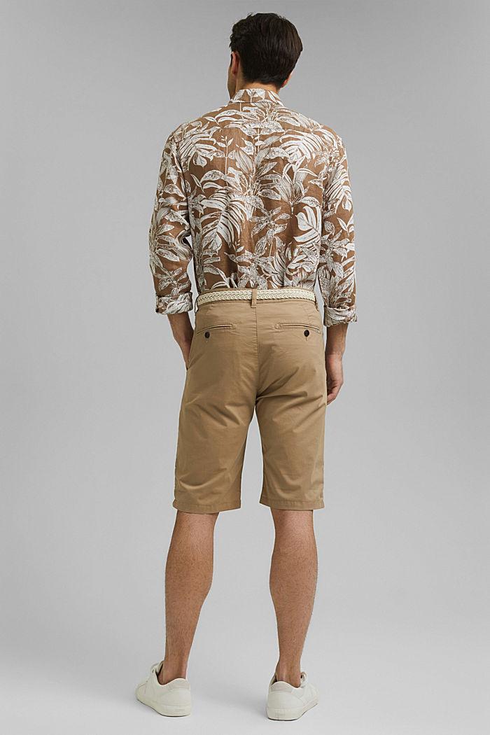 Organic cotton Shorts + belt, BEIGE, detail image number 3