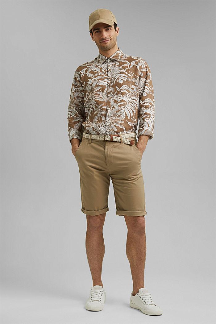 Organic cotton Shorts + belt, BEIGE, detail image number 1
