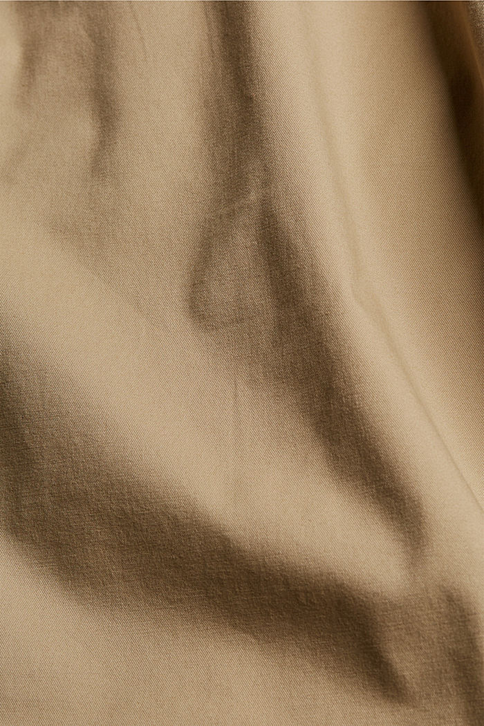 Szorty z paskiem, bawełna organiczna, BEIGE, detail image number 4