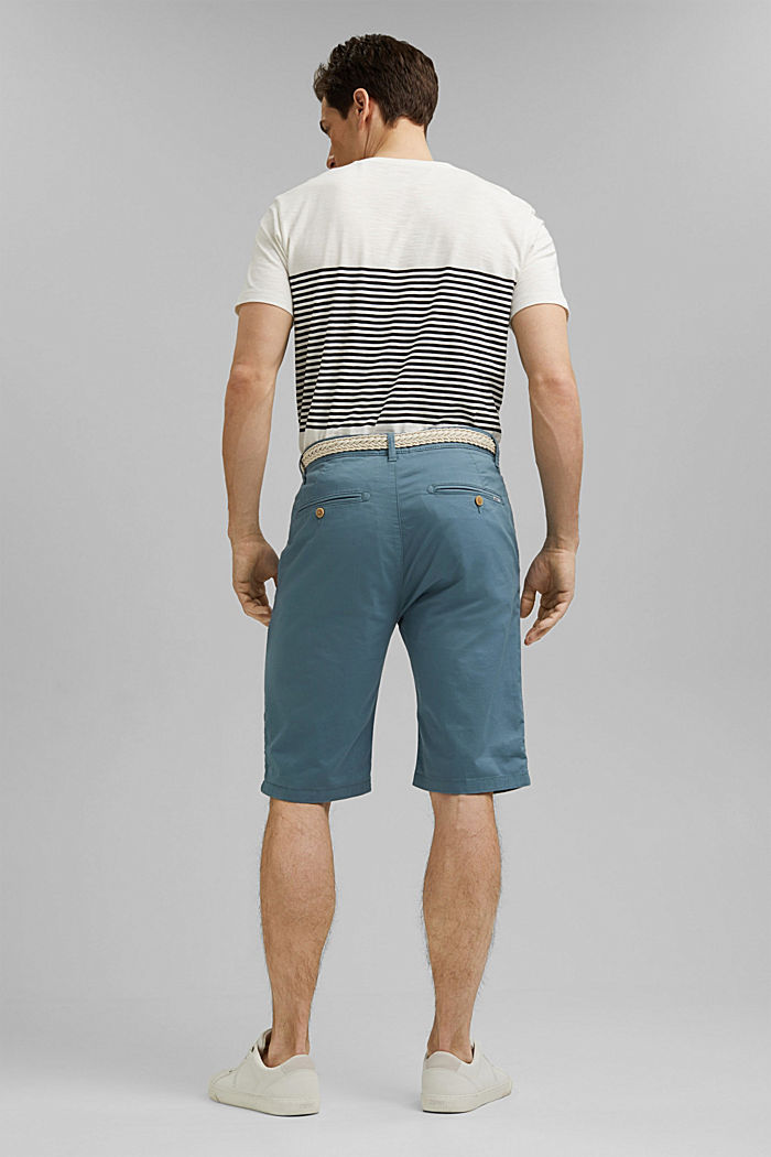 Organic cotton Shorts + belt, GREY BLUE, detail image number 3