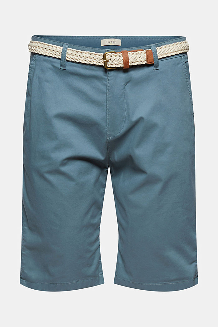 Organic cotton Shorts + belt, GREY BLUE, detail image number 6