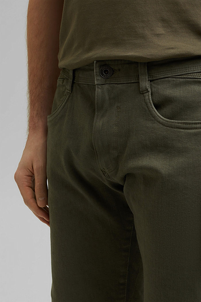 Shorts mit Organic Cotton im Washed-Look, OLIVE, detail image number 2