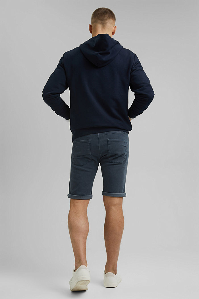 Shorts with organic cotton in a washed look, DARK BLUE, detail image number 3