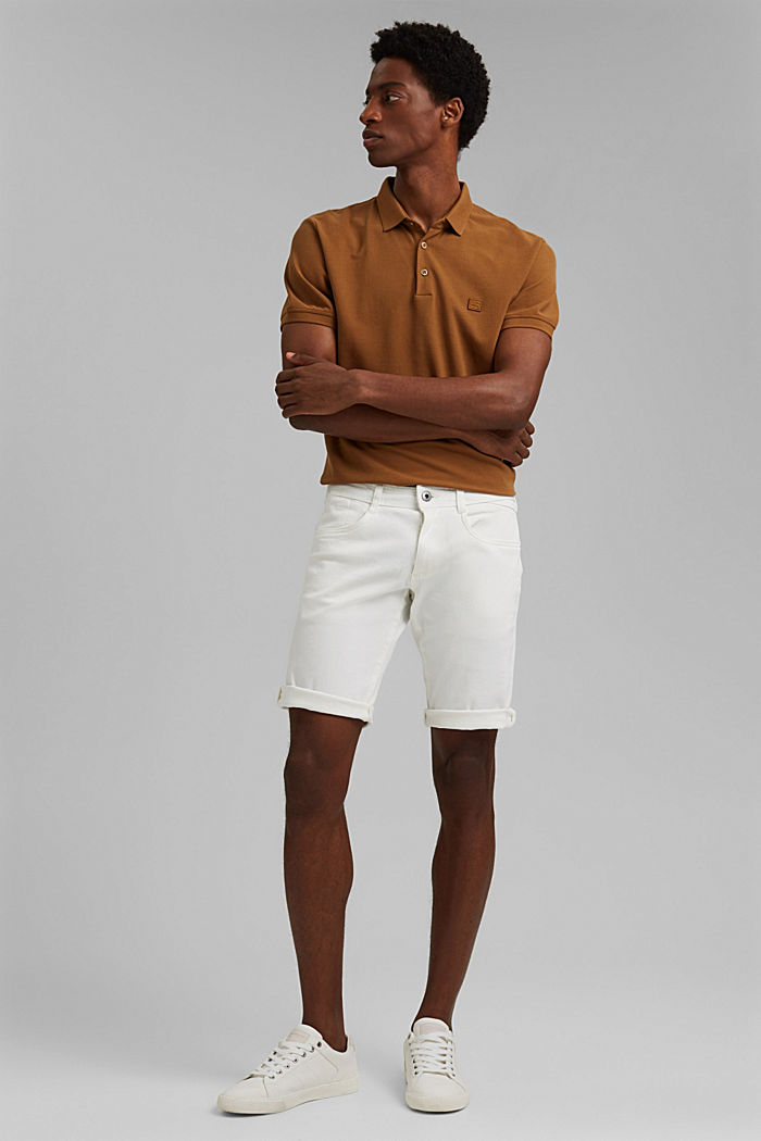Dynamic denim shorts, organic cotton, OFF WHITE, detail image number 1