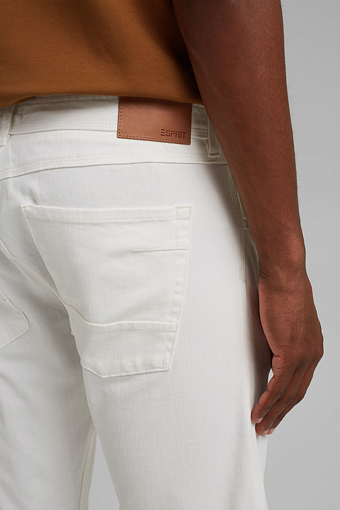 Dynamic denim shorts, organic cotton, OFF WHITE, detail image number 6