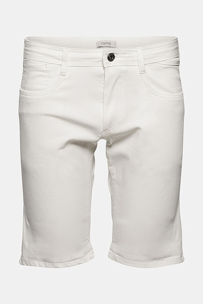 Dynamic denim shorts, organic cotton, OFF WHITE, detail image number 8