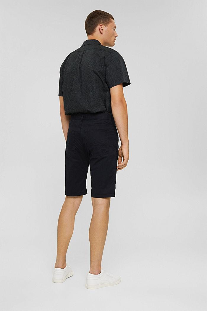 Short 100% coton biologique, BLACK, detail image number 3