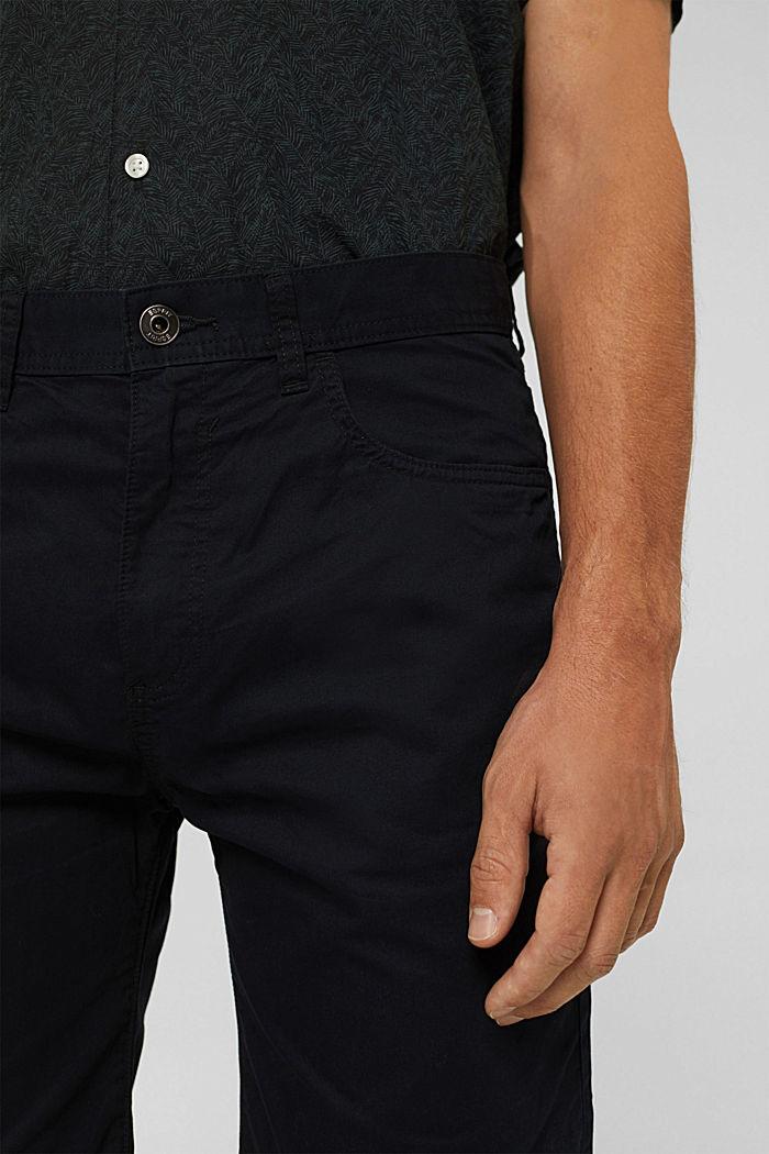 Short 100% coton biologique, BLACK, detail image number 2