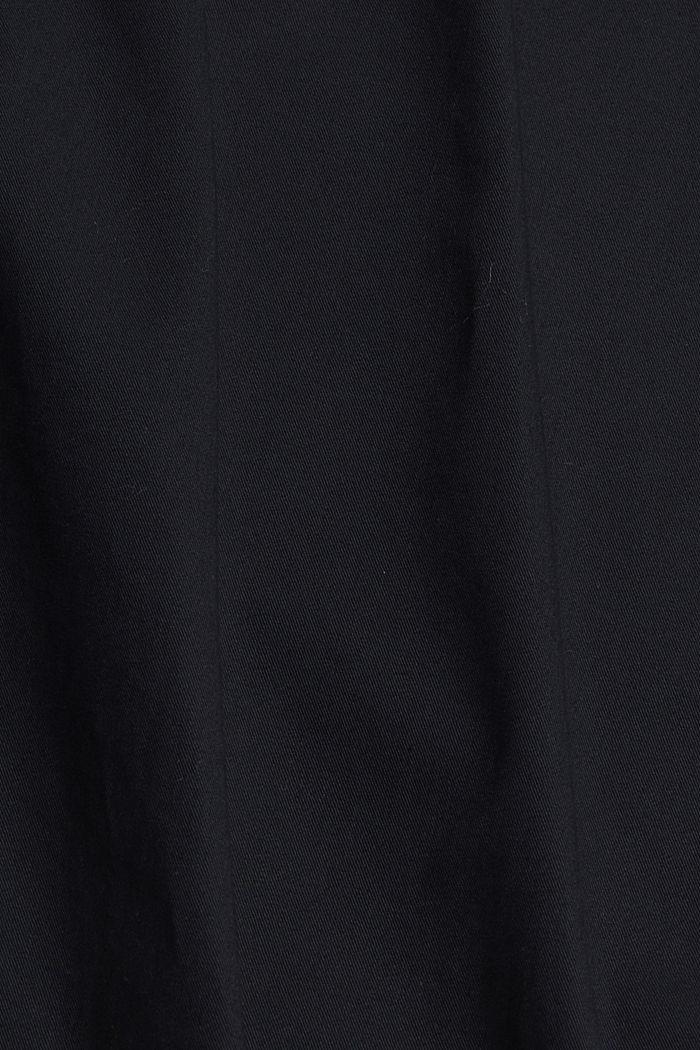 Short 100% coton biologique, BLACK, detail image number 4