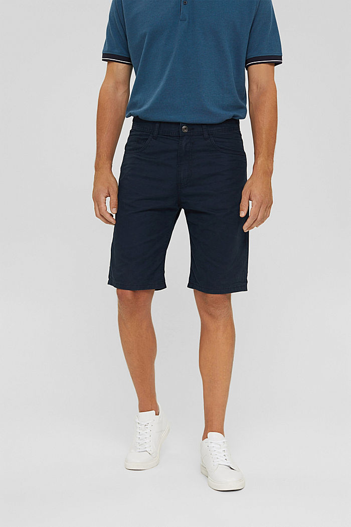 Shorts made of 100% cotton, DARK BLUE, detail image number 0