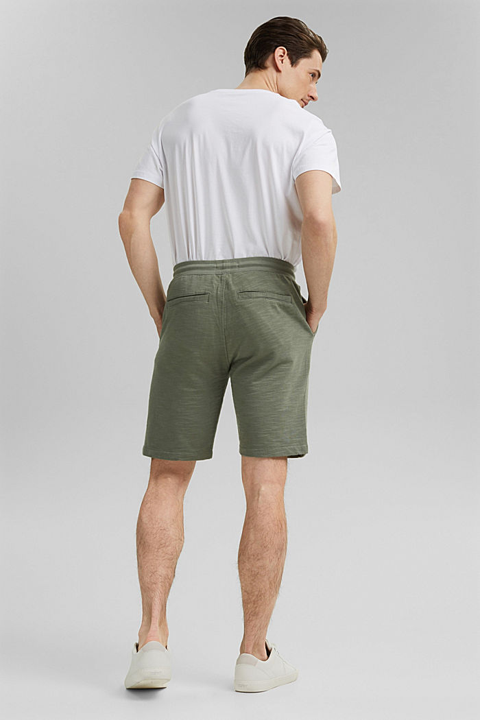 Tracksuit bottom shorts made of 100% organic cotton, LIGHT KHAKI, detail image number 3