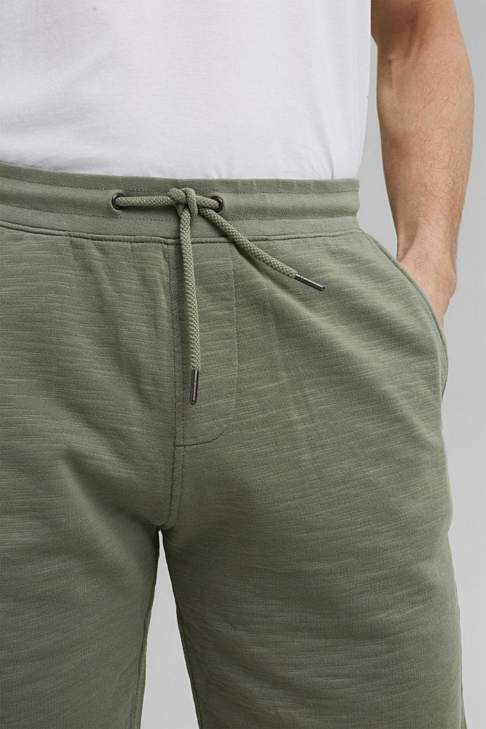 Tracksuit bottom shorts made of 100% organic cotton, LIGHT KHAKI, detail image number 2
