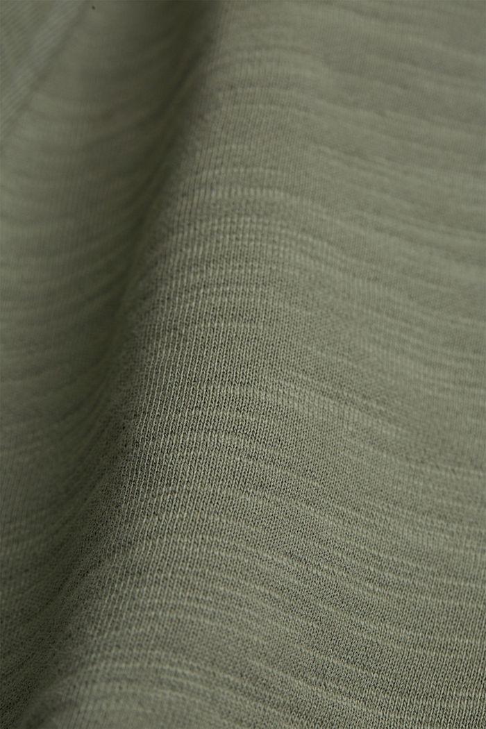 Tracksuit bottom shorts made of 100% organic cotton, LIGHT KHAKI, detail image number 4
