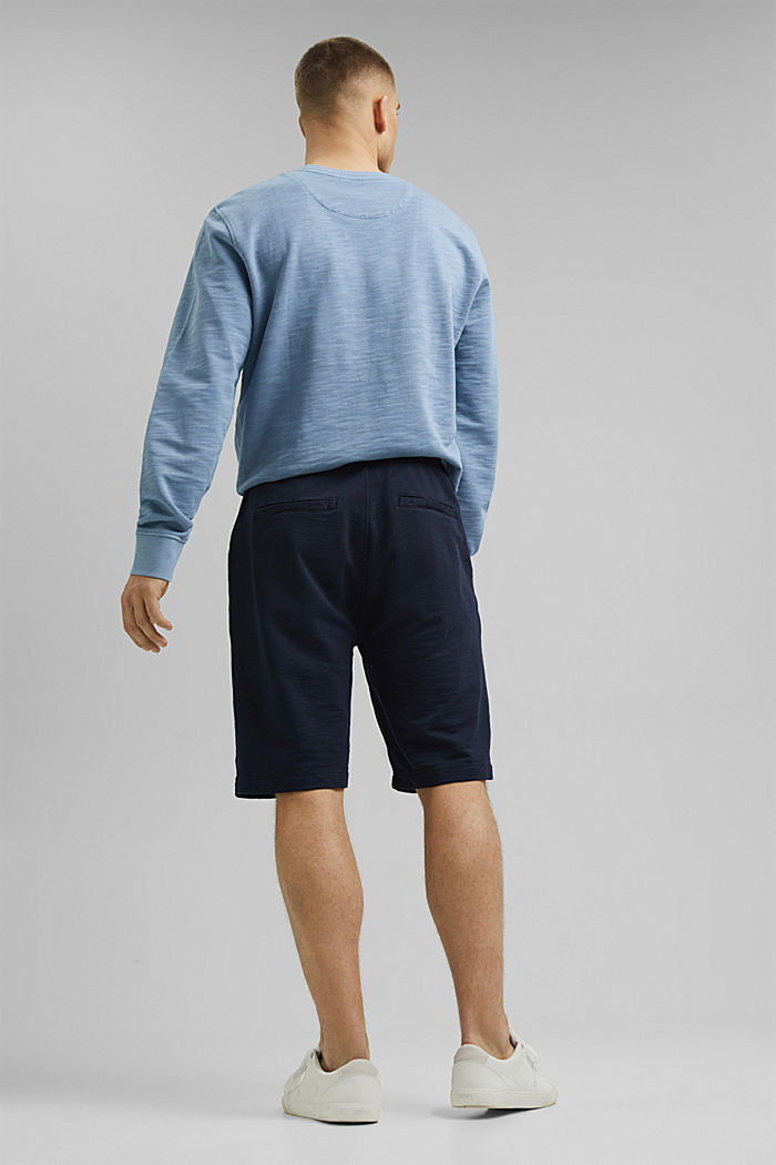Tracksuit bottom shorts made of 100% organic cotton, NAVY, detail image number 3