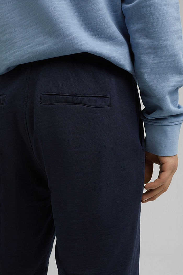 Tracksuit bottom shorts made of 100% organic cotton, NAVY, detail image number 4