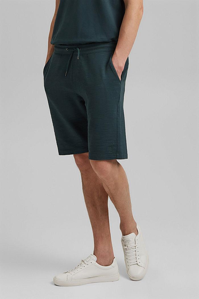 Jogger-Shorts aus 100% Organic Cotton, TEAL BLUE, detail image number 0