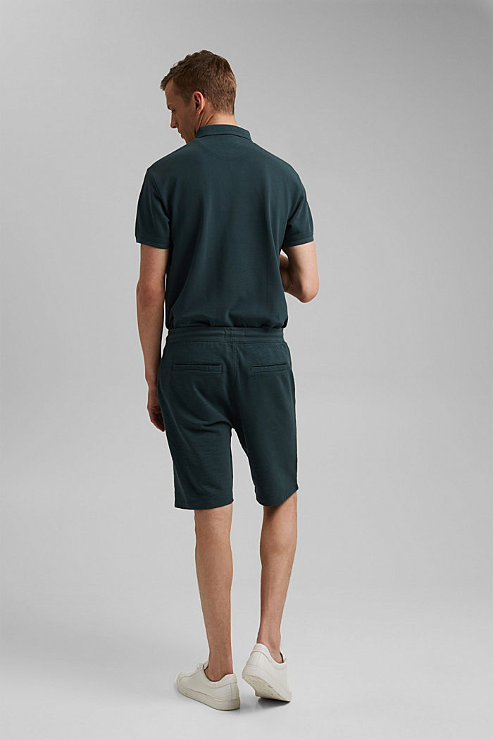 Jogger-Shorts aus 100% Organic Cotton, TEAL BLUE, detail image number 3