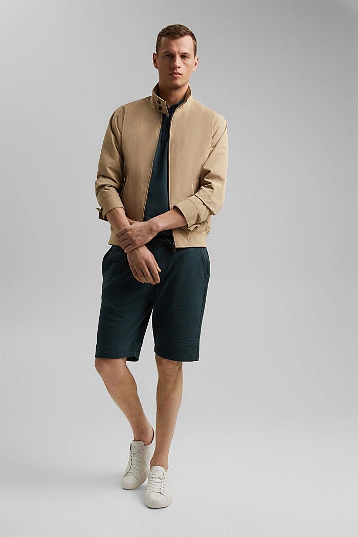Jogger-Shorts aus 100% Organic Cotton, TEAL BLUE, detail image number 1
