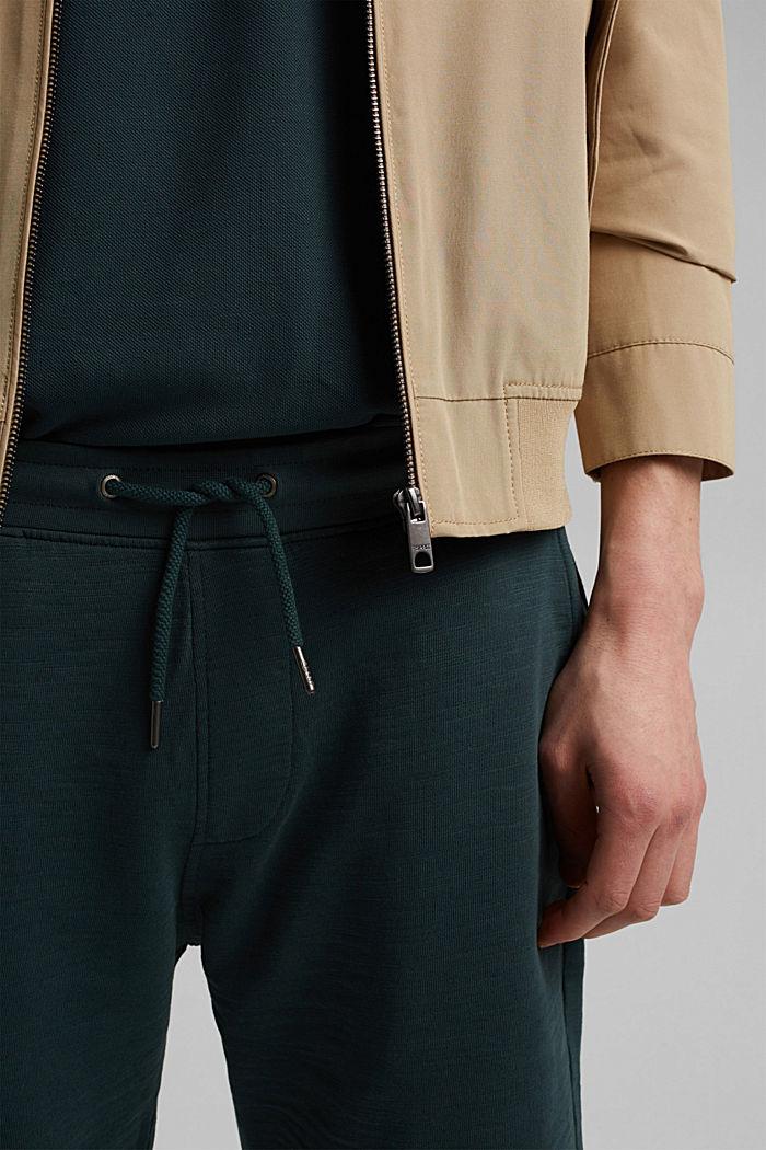 Jogger-Shorts aus 100% Organic Cotton, TEAL BLUE, detail image number 2