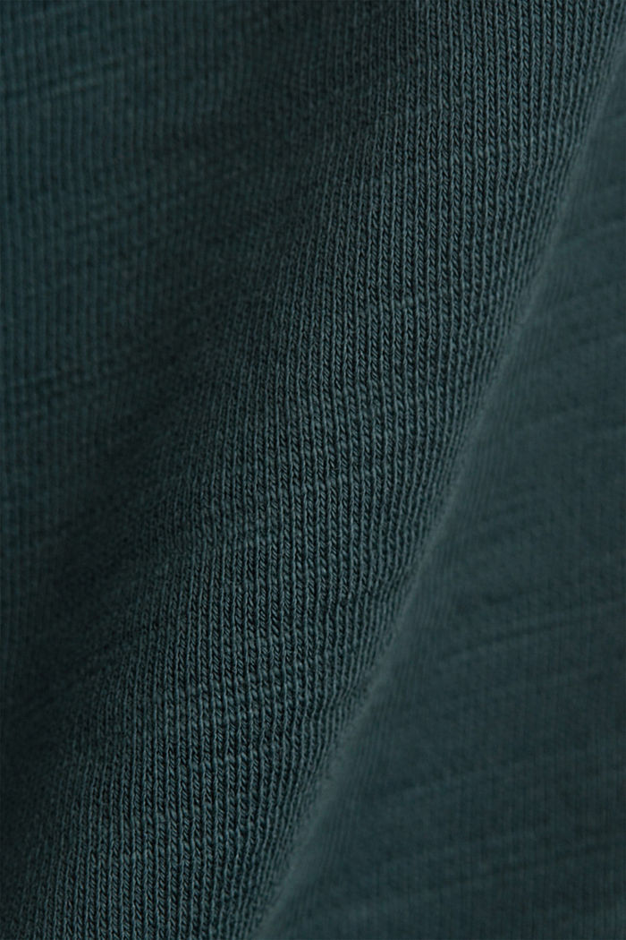 Tracksuit bottom shorts made of 100% organic cotton, TEAL BLUE, detail image number 5