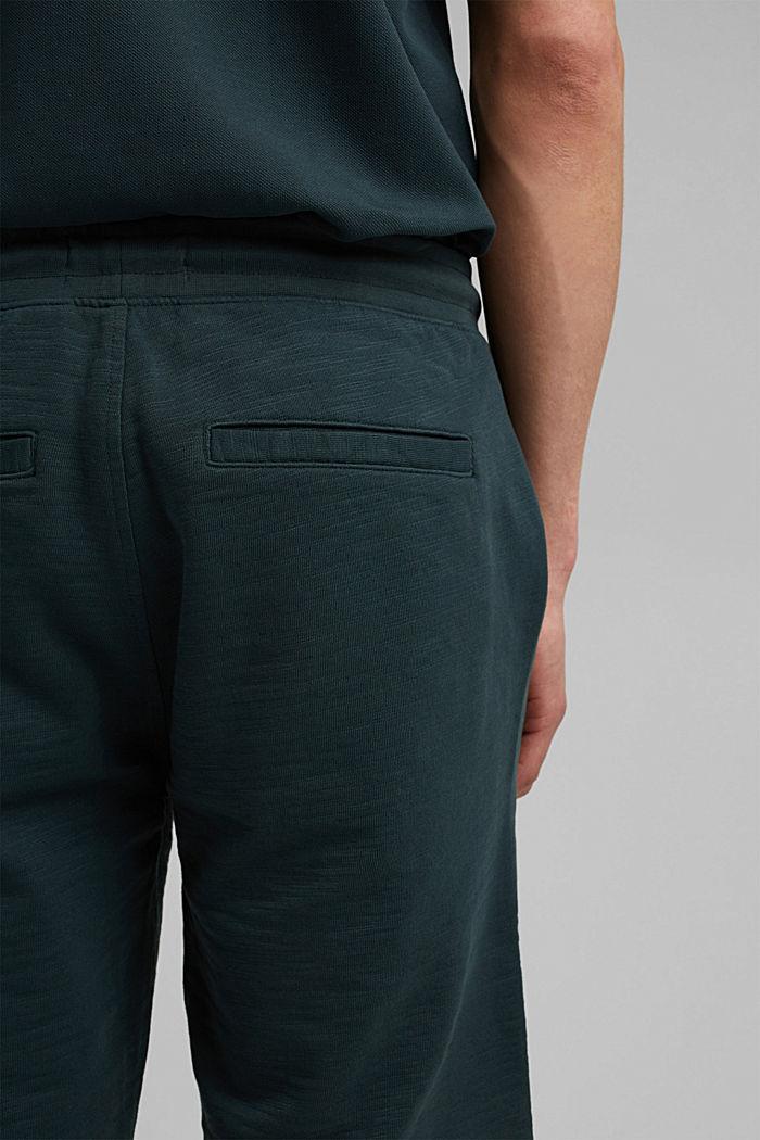 Jogger-Shorts aus 100% Organic Cotton, TEAL BLUE, detail image number 6