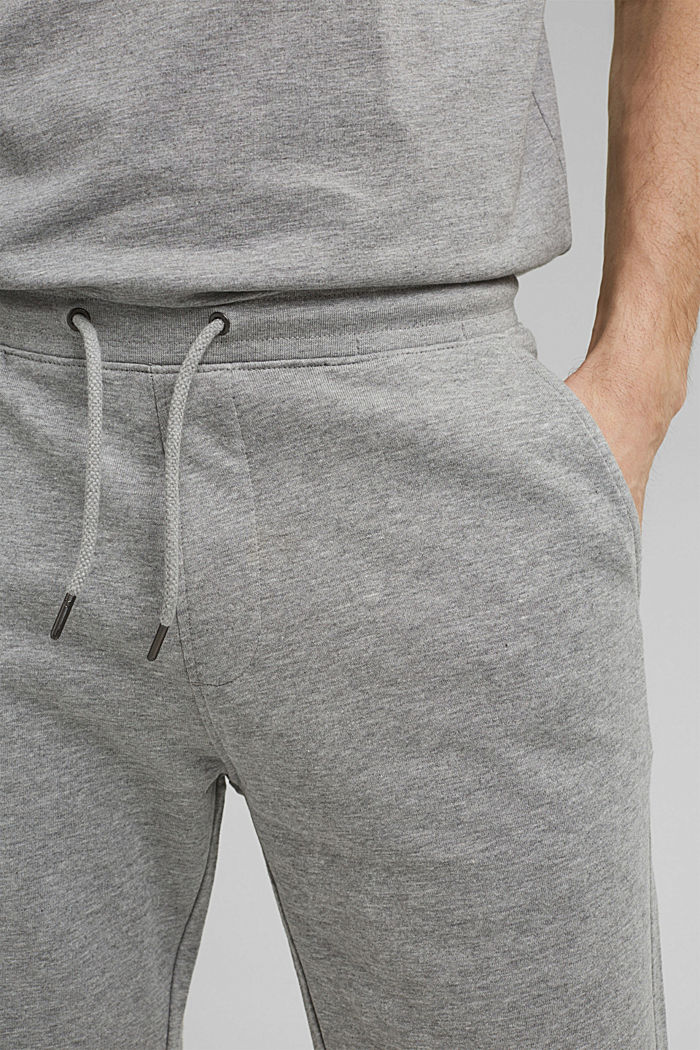 Sweatshirt fabric shorts with organic cotton, MEDIUM GREY, detail image number 2