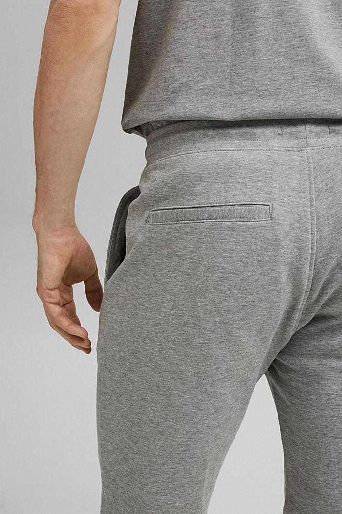 Sweatshirt fabric shorts with organic cotton, MEDIUM GREY, detail image number 4