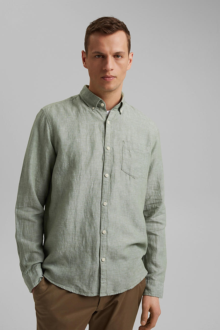 I hørmix: button-down-skjorte