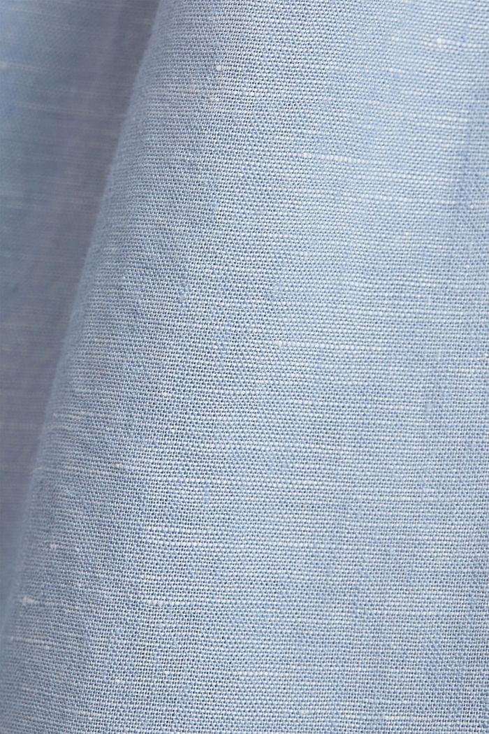 Linen blend: button-down shirt, GREY BLUE, detail image number 4