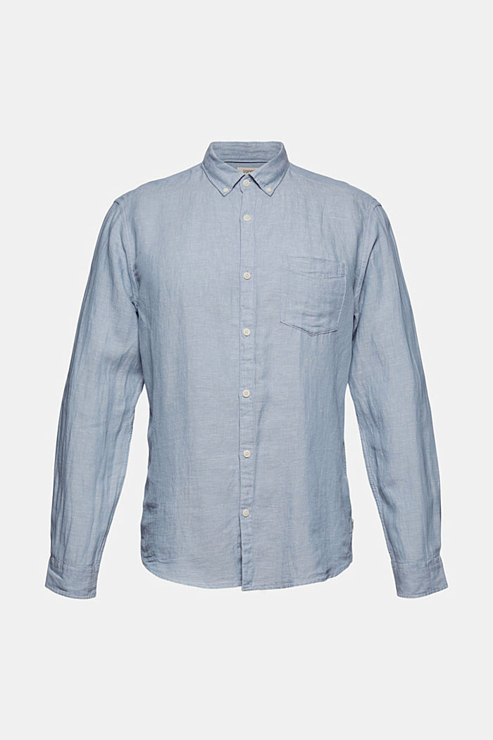 I linnemix: button down-skjorta