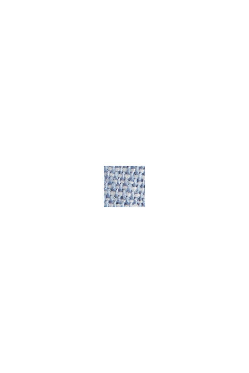 Van een linnenmix: buttondownoverhemd, GREY BLUE, swatch