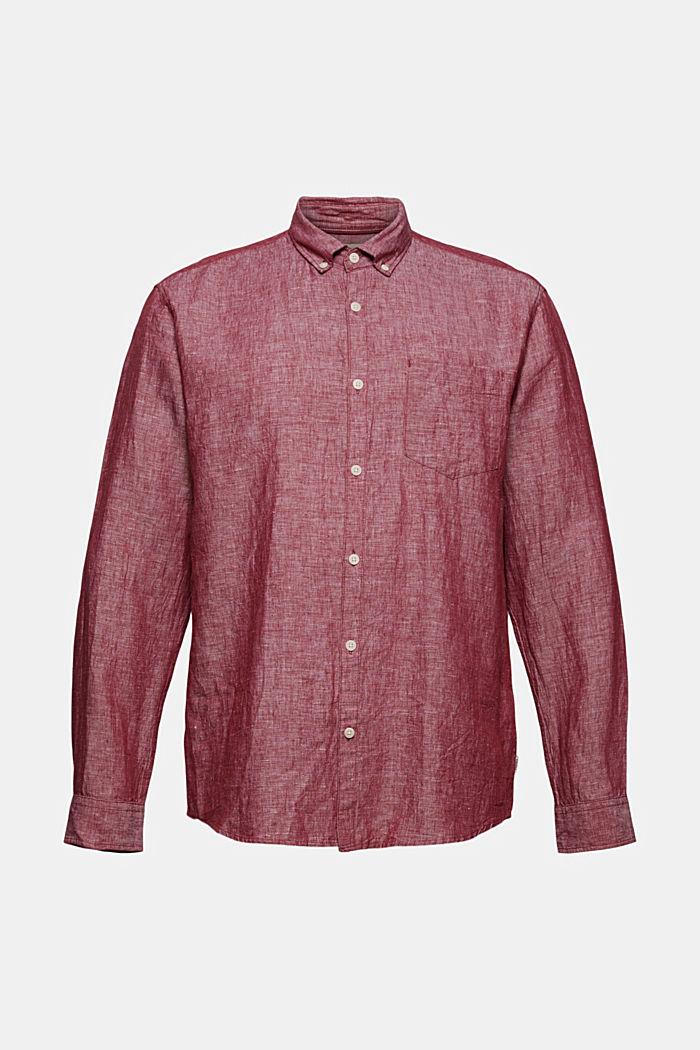 Linen blend: button-down shirt