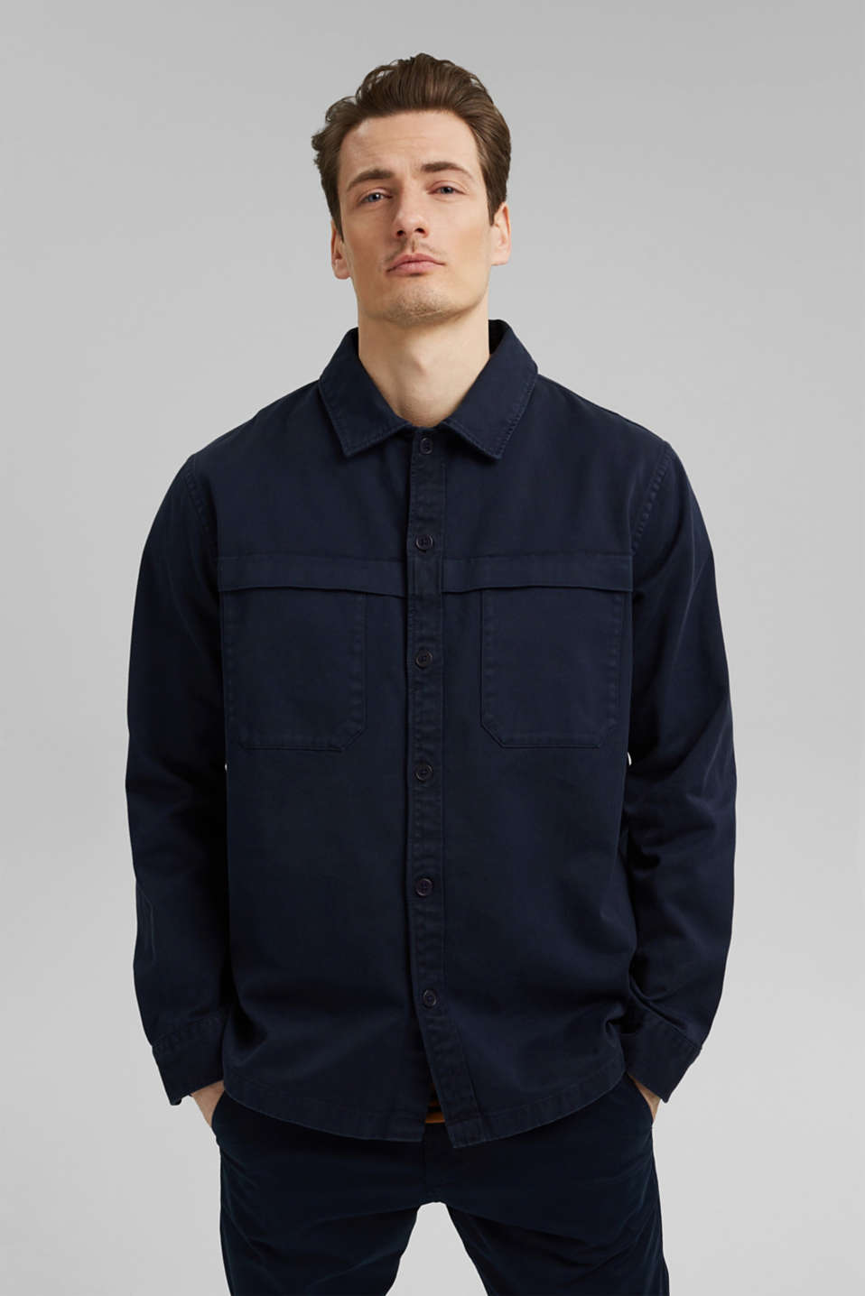 Esprit - Utility overshirt made of 100% organic cotton