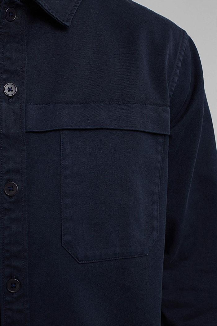 Utility-Overshirt aus 100% Bio-Baumwolle, NAVY, detail image number 2