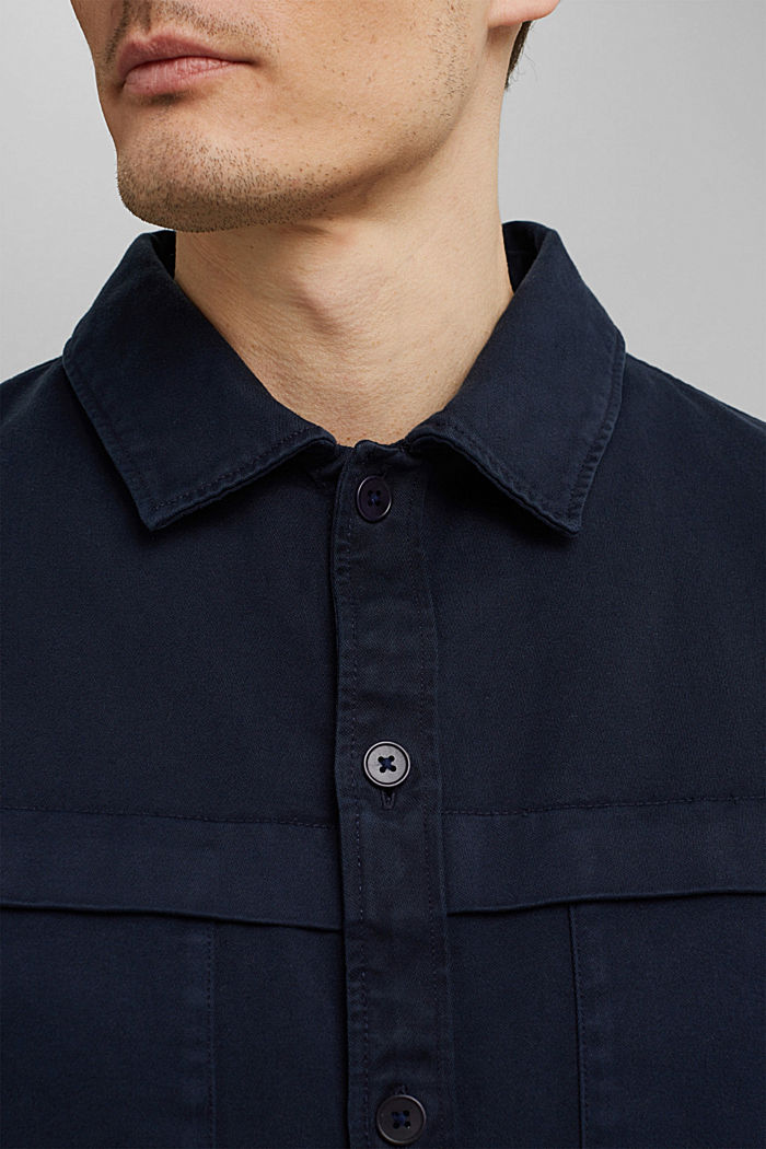 Utility-Overshirt aus 100% Bio-Baumwolle, NAVY, detail image number 4